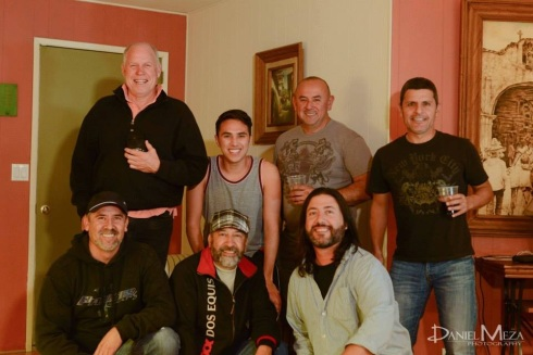 John (top-left) with David, Danny, Sergio and other friends in Ensenada